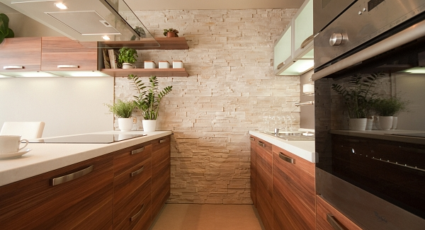 Stone in kitchen